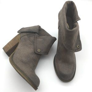 Sbicca ankle Booties vegan brown size 8